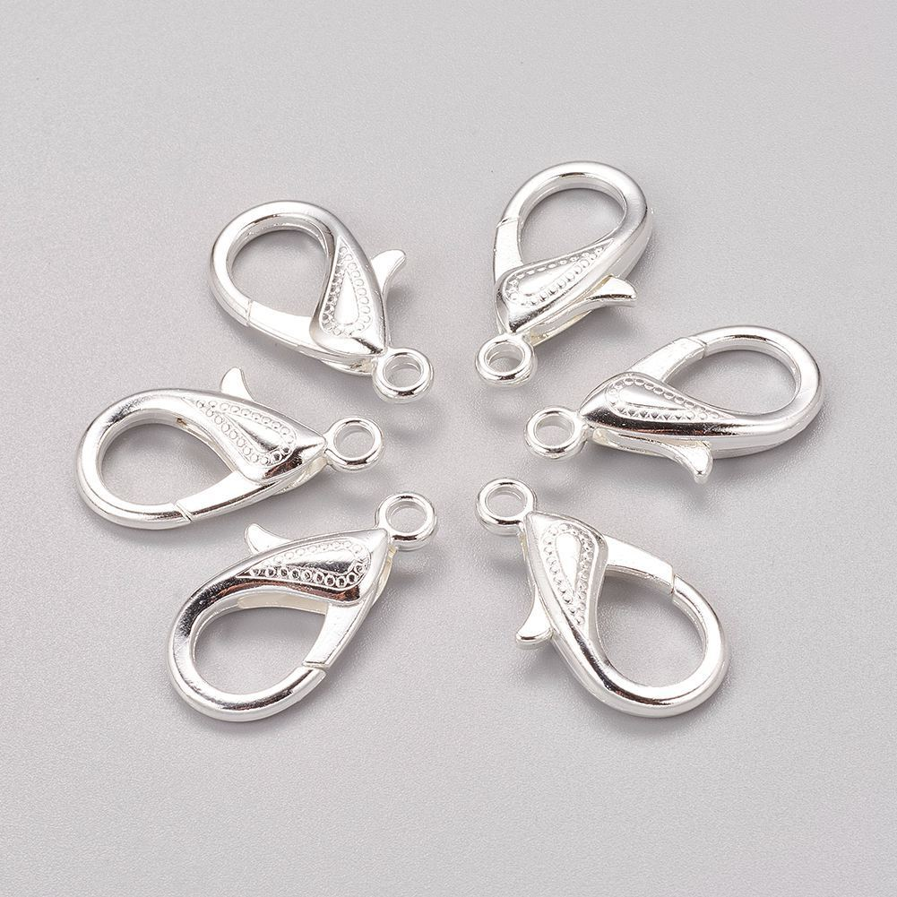 Sterling Silver Lobster Claw Clasp Choose 10,12 or 14mm and the quantity