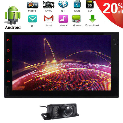 """7"""" Double 2 Din Car Stereo NO DVD Player HD Radio Bluetooth"""