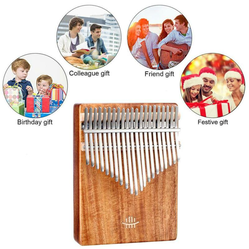 21 Key Kalimba Thumb Piano Finger Hand Piano Maple Wooden Music Instrument w/Bag