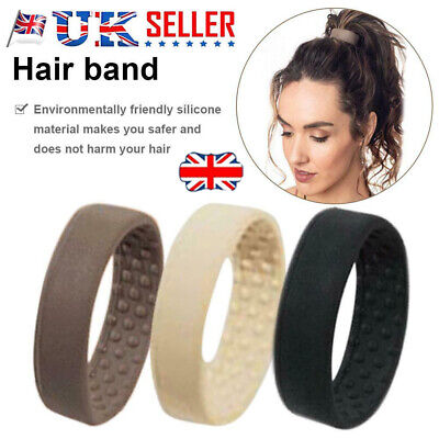 Silicone Foldable Stationarity Elastic Hair Bands For Women Ponytail Holder D@