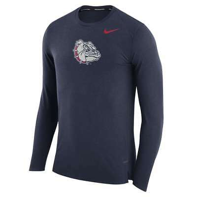 Nike Gonzaga Bulldogs Elite March Madness Long Sleeve Performance Top (M)