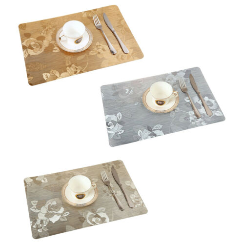 PVC Heat Resistant Non-slip Kitchen Dining Table Mats Placemats Pads Waterproof - $7.04