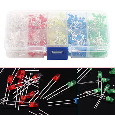 500pcs 3mm Ultra-bright Led Light Emitting Diode Component Kit For Pcb Circuit