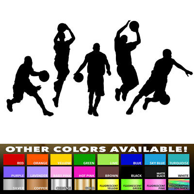 Basketball Team Silhouette Sports Decal Sticker for Wall Decor Room Car Window