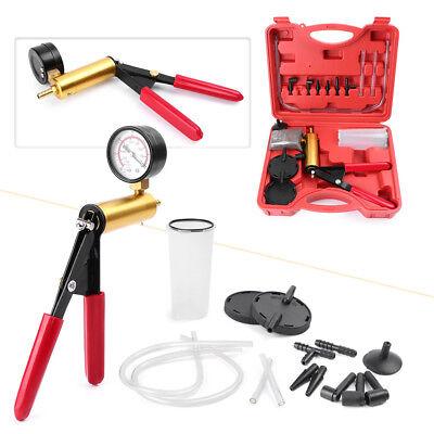 Automotive  Hand Held Vacuum Pump Tester Set Vacuum Gauge Brake Bleeder Kit ()