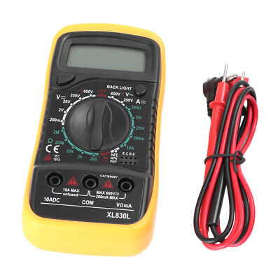 Digital Multimeter Voltmeter Ammeter Ohmmeter Volt Ac Dc Tester Meter Xl830l