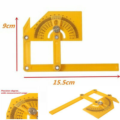 Plastic Protractor Goniometer Angle Finder Miter Gauge Arm Measuring Ruler Tool