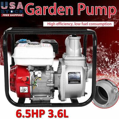 6.5 Hp Gas Water Semi Trash Pump 3 Inch Petrol High Pressure Garden Irrigation