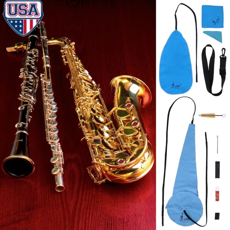 Saxophone Cleaning Care Kit Set 10-in-1 Alto Sax Maintenance Cleaning Cloth