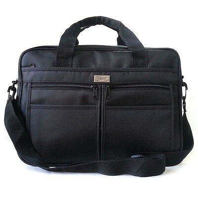 New Black 14 inch Laptop Bag Fabric Briefcase Book Bag Messenger Bag