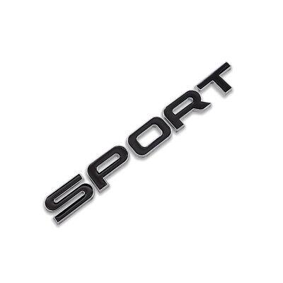 Silver&Black Metal Sport Logo Car Emblem Turbo Badge Letter Sticker Racing Decal