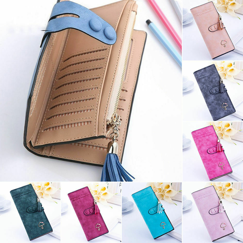 Large Capacity Women Lady Long Leather Wallet ID Card Cash Phone Holder Purse US Clothing, Shoes & Accessories