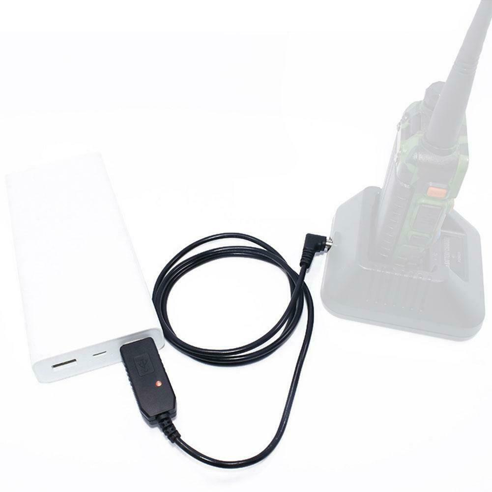 For Baofeng UV5R/UV82/BFF8HP/UV9R Walkie Talkie USB Charger Adapter Cable F1Q6 - $7.43