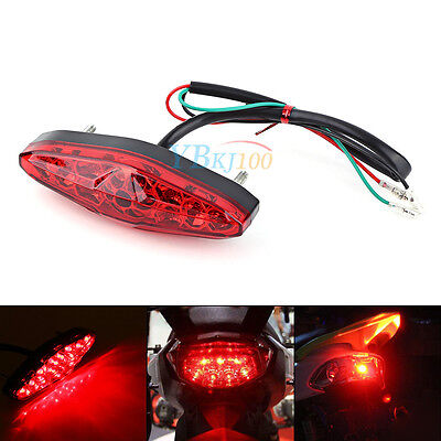 Red 15 LED Motorcycle ATV Bike Brake Stop Tail Light Rear Lamp 12V Universal AP