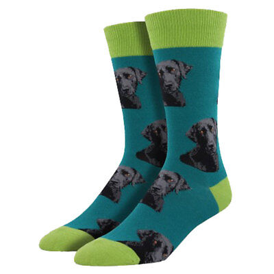 Socksmith Men's Crew Socks Black Labrador Retriever Puppy Dogs Novelty Footwear for sale  Shipping to India