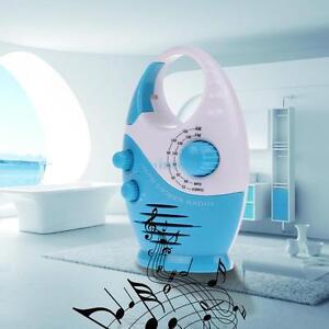 Mini AM FM Waterproof Hanging Bathroom w/ Built-in Speaker Music Shower Radio UK