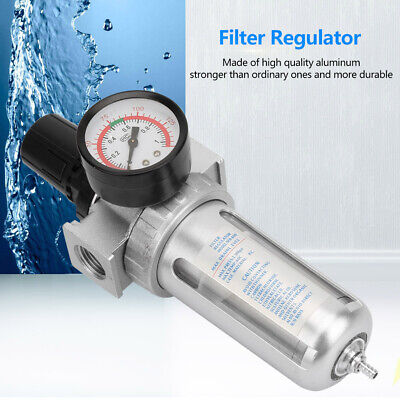 Bsp 12 Air Compressor Moisture Water Trap Filter Regulator W Mount Connection