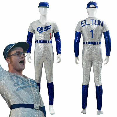 Rocketman Elton John Dodgers Baseball Uniform Cosplay Costume Halloween Suit](Elton John Costume Halloween)