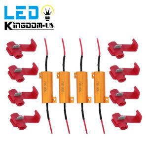 4 PCS 50W Load Resistor 6 ohm Fix LED Bulb Fast Hyper Flash Turn Signal Blinker