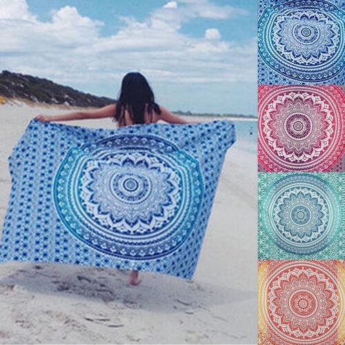 Hippie Tapestry Bohemian Print Beach Towels Throw Square Man