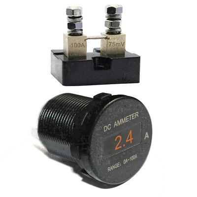 Mini Digital Oled Dc Ammeter Monitor Current Amp Meter 100a Waterproof 12v24v