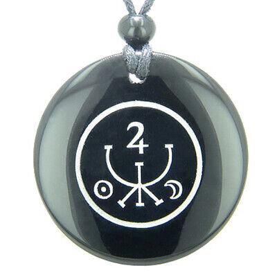 Universe Ancient Money Sigil Talisman Black Onyx Magic Gemstone Circle Spiritual