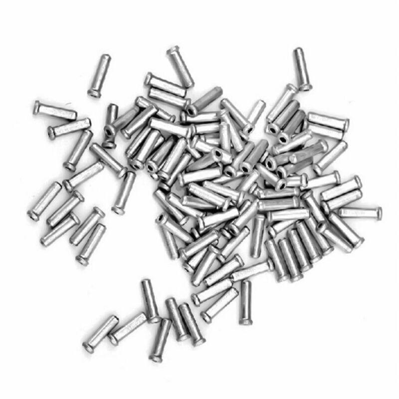 50pcs Aluminium Frein de Vélo Manette Câble Interne Bouts Embout Sertissures