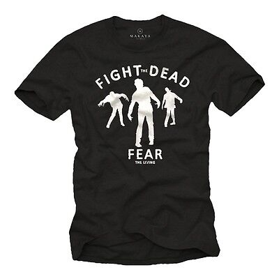 Walking Zombies Herren T-Shirt Fear Dead Halloween Horror Nerd Big Bang Theory - Big Bang Theory Halloween