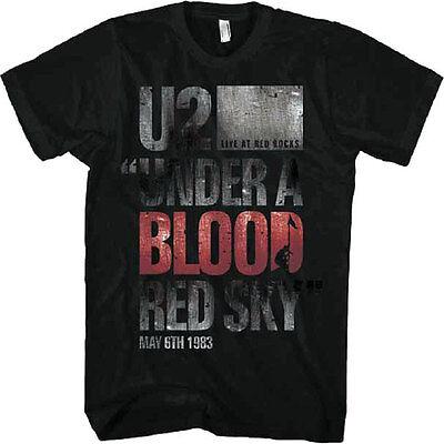 Official U2   Under A Blood Red Sky T Shirt  Irish Rock Band Bono  Edge  Adam T