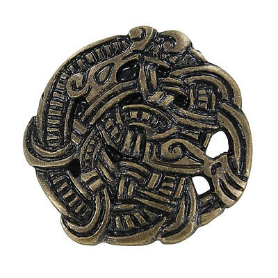 Medieval Renaissance Brass Viking Greiftier Brooch Costume Re Enactmant Pin