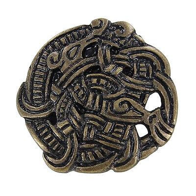 Medieval Renaissance Brass Viking Greiftier Brooch Costume Re Enactmant Pin