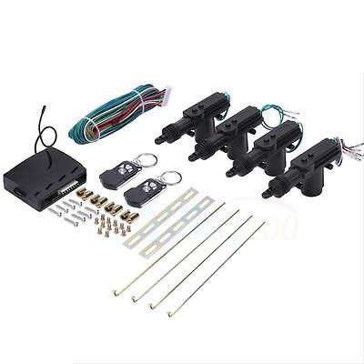 Universal Car Central Power 2 4Door Lock Unlock W 2 Remote Kit For Keyless Entry