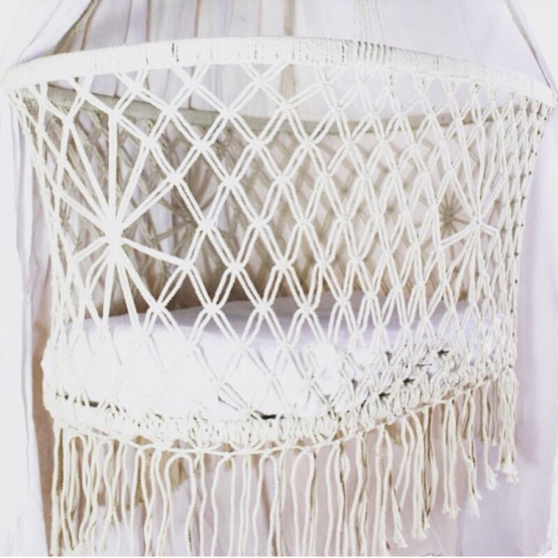 Cradle Hanging Hammock for Baby Girl Boy Pure Cotton Knit Baby Crib 90x55x34cm