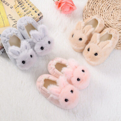 Baby Kid Girls Cartoon Warm Slippers Toddlers Rabbit Bunny Animals Bedroom - Baby Bunny Slippers