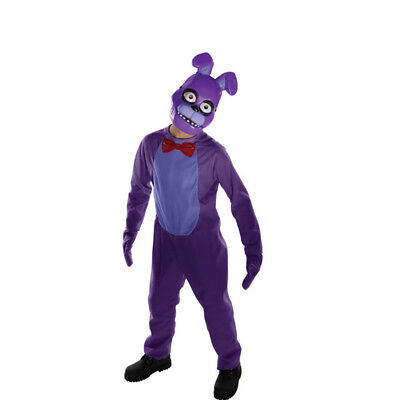 Bonnie Tween Five Nights At Freddy's Overall Kostüm Handschuhe und Maske Fnaf