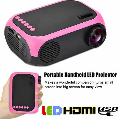 LED Projector Mini Portable Handheld Projector HD 1080P Home Theater HDMI/USB/SD