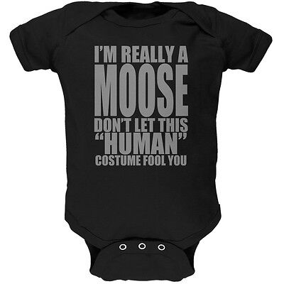 Halloween Human Moose Costume Black Soft Baby One - Infant Moose Costume