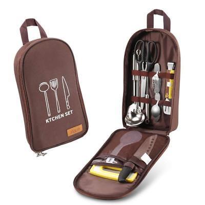 Camping Kitchen Utensil Set Camp Cookware Utensils Organizer Travel Kit - Camp Kit