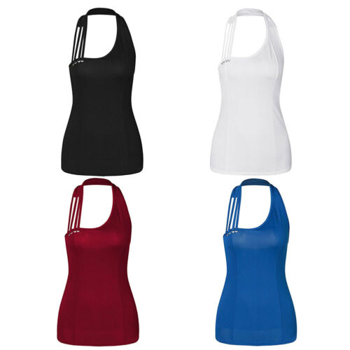 Women's Summer Sexy Halter Neck Sleeveless Irregular Veat Blouse Tank Top S-3XL