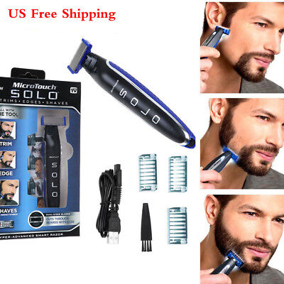 Best Micro Touch SOLO Rechargeable Men Shaver Beard Hair Clipper Trimmer Edger