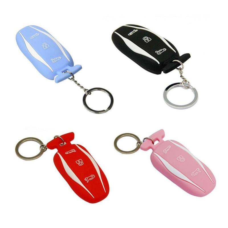 Silicone Rubber Key Fob Protector Cover Case For Tesla Model 3 Remote Keyless