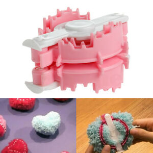 1Pc Wool Knitting Loom Plush Ball Heart Maker Yarn Weaver Needle Kit Craft New