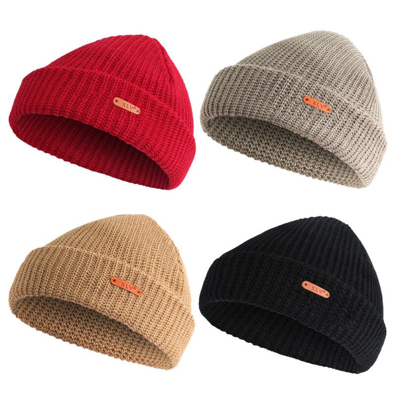 1eaf19f79e5 Men Women Knit Baggy Beanie Warm Winter Hat Ski Slouchy Fisherman Docker Hat  Cap