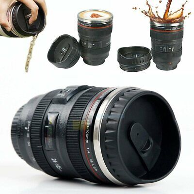 Stainless Steel 24-105 Camera Lens Coffee Mug Coffee Cup Travel Thermos & Lid Coffee Cup Collectible