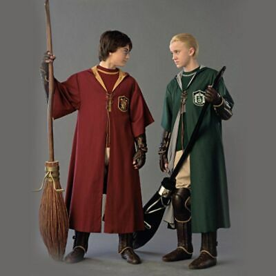 Harry Potter Costumes Adults (Adult Harry Potter Cosplay Robe Cloak Gryffindor Slytherin Hufflepuff Costume)