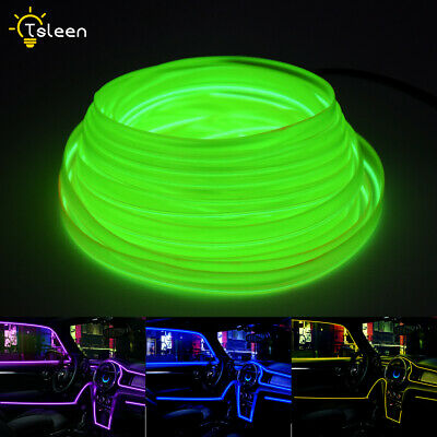 Rope Light Halloween Costume (2m/5m Flat EL Wire Neon Lights Rope Lamp with USB Inverter for Costume Stage)