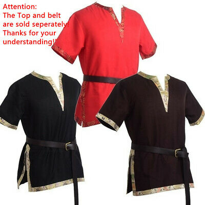 Medieval Tunic Braided Renaissance Viking Norseman Saxon Men Cosplay Costume