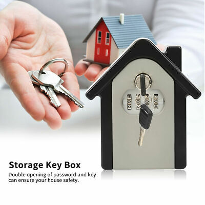 4 Digit Password Lock Combination Key Box Wall Mount Safe Security Storage Case