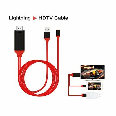 Lightning to HDMI Digital TV AV Adapter Cable For i-Phone X 8 7 6 Plus MAX NEW