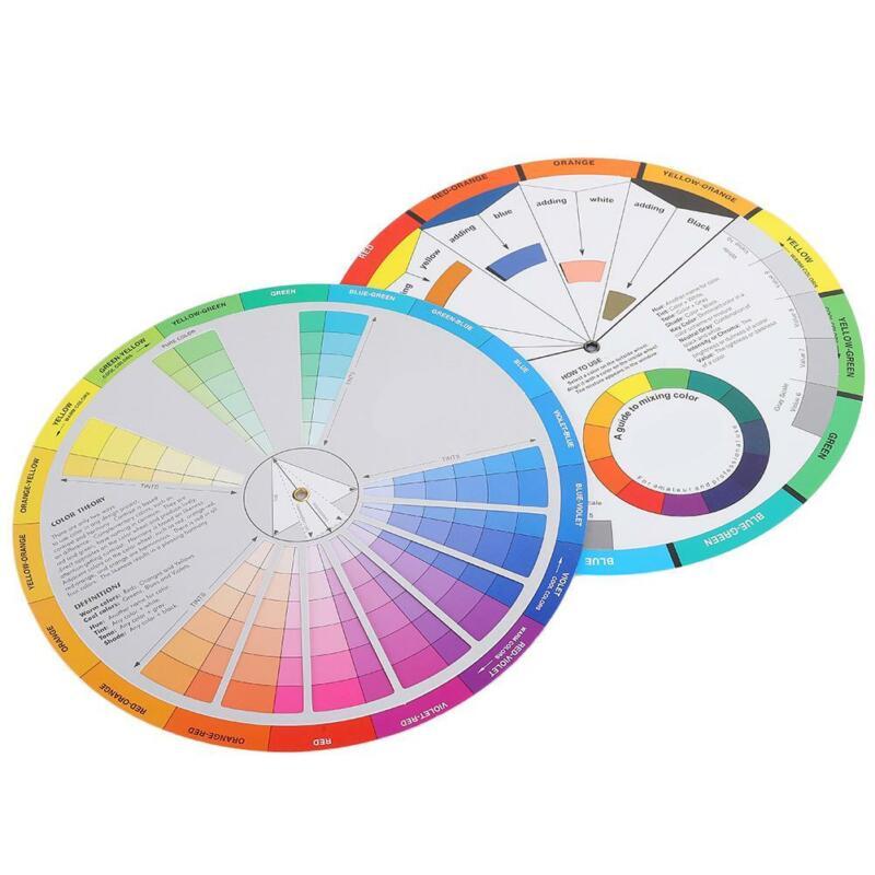 2pcs color wheel color mix guide, tattoo pigment frames for permanent paint